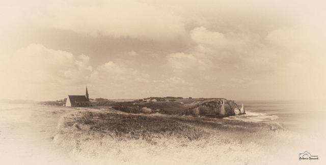 Paesaggio antico di Etretat